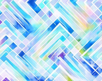 Criss-Cross Watercolor Bandana