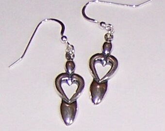 Sterling Silver LOVE GODDESS Earrings -