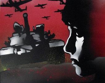 War Girl / Graffiti Art on Canvas