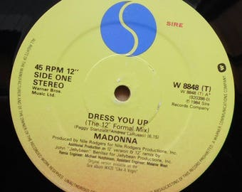 """MADONNA Dress You Up 1984 UK Issue Original 12"""" Maxi Extended Vinyl Single Record Pop Like a Virgin 80s W8848"""
