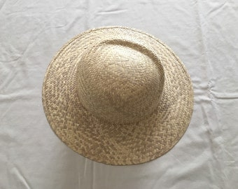 Simple Vintage Straw Sun hat / Wide Brim Woven Sun Hat