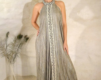 Robe Game of Thrones Grise, Soie sauvage
