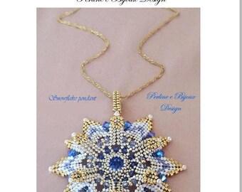 "TUTORIAL ""Snowflake"" pendant"