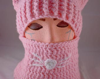 Kitty Cat Hat with Cowl