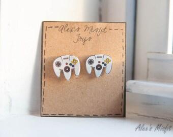 Nintendo N64 Inspired Controller Earrings
