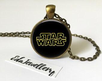 Star Wars Pendant, Universe, Solar System Necklace, Galaxy, World Jewellery