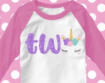 Second Birthday svg, 2nd birthday SVG, two unicorn svg, iron on, svgs, unicorn birthday shirt, 2nd birthday shirt, two svg, 2