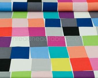 Paint Chips in Bright  from Chroma by Mark Hordyszynski for Michael Miller Fabrics: Quilting Sewing Crafts by the Half Metre OOP
