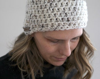 Chunky Crochet Simple Beanie Hat - Made to Order - Custom Color One Size Fits Most - warm wool blend washable cozy winter autumn accessories