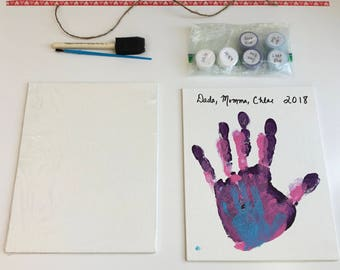 DIY Family Handprint Canvas Kit (Kit Collection)