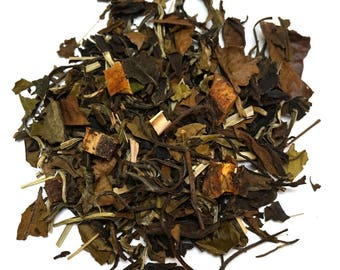 PEACHY LEMON LIZ - Loose Leaf Tea - Top Selling Flavored Tea - Tea Sampler - 10g - 25g -50g