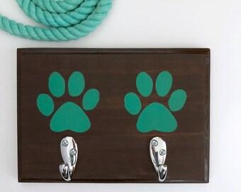 Paw Print Home Decor | Dog Leash Hanger | Dog Sign | Dog Storage | Leash Hook | Pet Gift | Dog Accessories