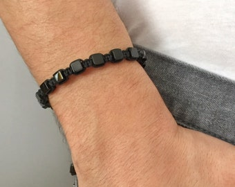 Shamballa Bracelet, Cubic Onyx Bracelet, Paracord Bracelet, Knot Bracelet, Macrame Bracelet, Yoga Bracelet, Bracelet For Men, Mens Gift