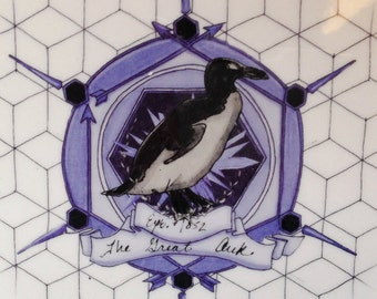 The Great Auk: Commemorative Plate Honoring Extinct Animals (Series No.2)