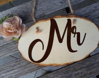 Mr & Mrs Custom Wooden Plaque