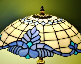 Tiffany Lamp Baroque Classic. Table Lamp Tiffany Style. Stained Glass Desk  Lamp. Stained