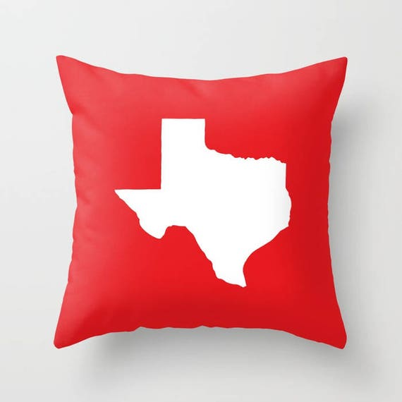 Texas Throw Pillow . Modern Red Pillow . Texas Cushion . Red Pillow . Texas Pillow . Texas State . Red Pillow . Texas Gift 14 16 18 20 inch