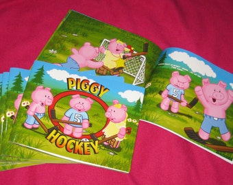 Piggy Hockey kids book. For children 4-6. 24 Colour Pages. First Edition