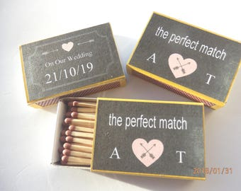 Personalised Matchbox favours. Wedding favours.