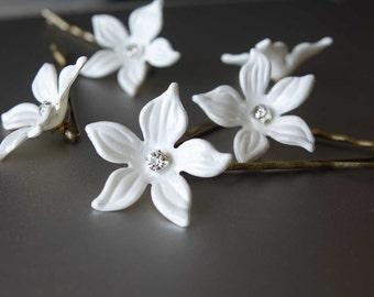 Bridal hair pins Wedding Hair Pins Set of 5 Bridal hair piece Flower girl hair pins Bridal hair accessories/ Bridesmaid hair pieces