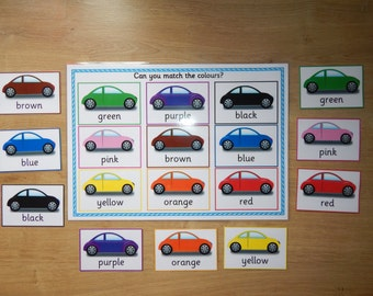 Colour Matching Game - Early Learning, EYFS, SEN, Toddlers, Learn Colours, Teaching Resource, Colour recognition
