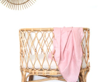 The Simple Linen Baby Wrap-  BLUSH