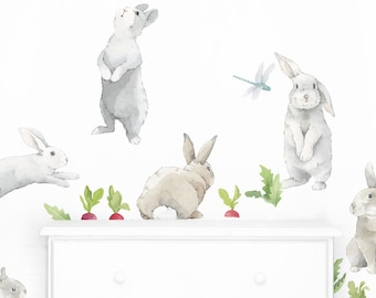 Bunny Kit - Fabric Wall Decal - Hop - Mej Mej