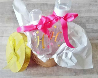 Personalized baby bottles - pink