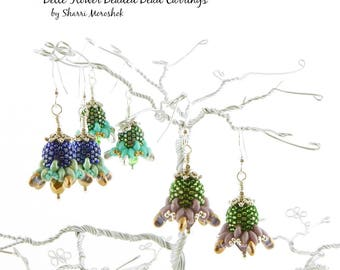 Belle Flower Beaded Bead Earrings - a tutorial by Sharri Moroshok
