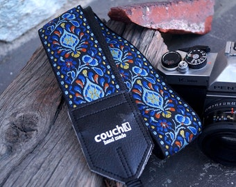 Hendricks Electric Blue Hippie Weave Camera Strap