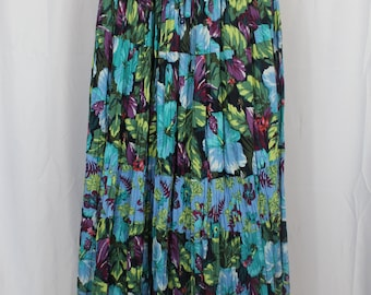 White stag 90s floral skirt