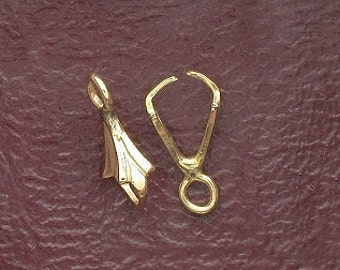 Two 7mm ice pick pendant bails goldfilled cf345