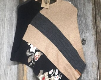 Recycled Sweater Poncho