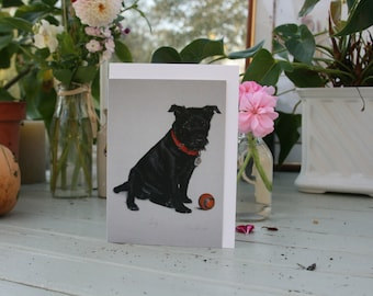 Sooty - A6 Blank greetings cards of a patterdale terrier drawn by Imogen Man