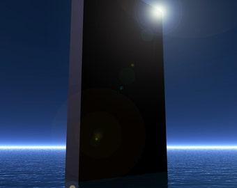 2001 A Space Odyssey Digital Art Glossy Print