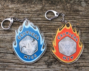 Critical Die - Double Sided Keychain
