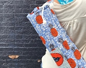 Pineapple African WAX Print Yoga Bags