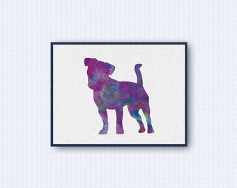 Jack Russell Terrier Watercolor Poster