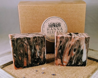 Dogwood Ginger Blossom Cold Processed Soap -Dogwood Ginger Soap - red soap - floral soap - moisturizing soap - Hanna Herbals