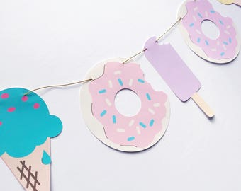Doughnut & Ice cream garland