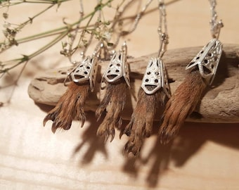 Squirrel paw necklace