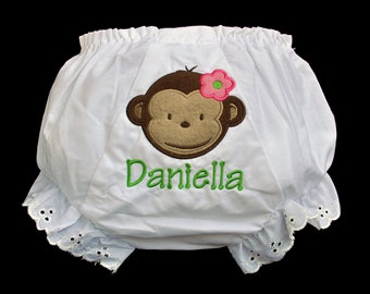 Personalized Baby Girl Bloomer Pants