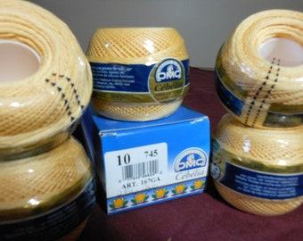 DMC Cebelia yellow crochet thread