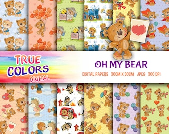 Oh my Bear - Digital Paper
