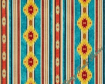 "Timeless Treasures ""Cabin"" C4805 Southwest Aztec Stripe Fabric (Select Size)"