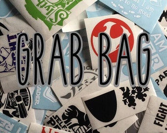 Grab Bag Surprise Vinyl Decals Half Price 20+ Dollar Value