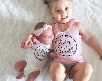 Girls big sis shirt, big sister shirt, little sister shirt, sibling shirts, pregnancy announcement shirt, baby announcement shirt