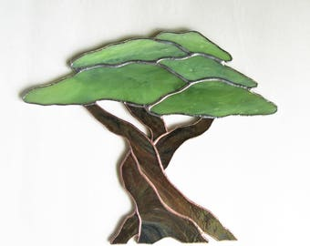 Olive Tree in Stained Glass-MADE TO ORDER-