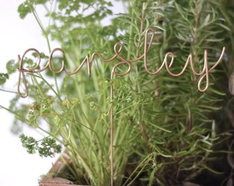 Plant Markers, Gift for Gardeners, Gardeners Gifts, Herb Markers, Herb Signs, Gift for Mum, Gift for Dad, Herbs, Herb Toppers, Garden Decor