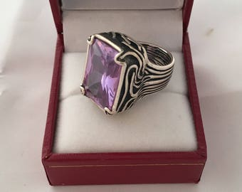 Silpada Lavender Fields Wide Band Ring Solid Sterling Silver 925 Stunning
